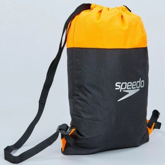 POOL BAG-BLACKFLUO ORANGE, 1 SIZE