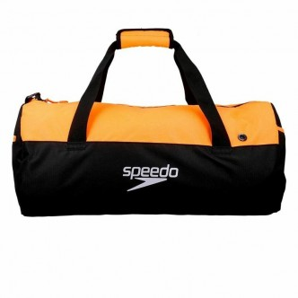 DUFFEL BAG-BLACKFLUO ORANGE, 1 SIZE