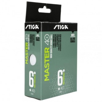 Balles de Tennis de Table Master  6-Pack Blanc
