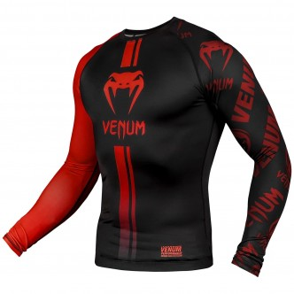 Venum Logos Rashguard - Long Sleeves - BlackRed