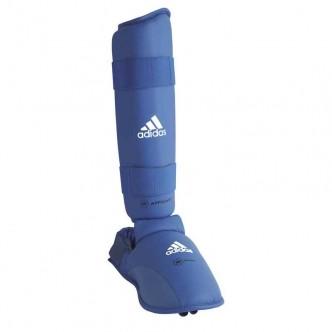 Protège pied et tibia WKF - Bleu