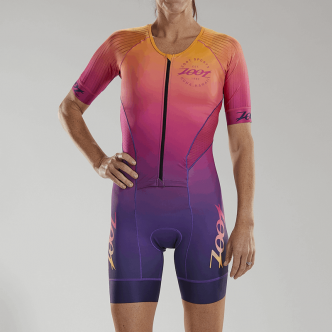 W LTD Tri Aero Full Zip Racesuit PLUS - Sunset - L